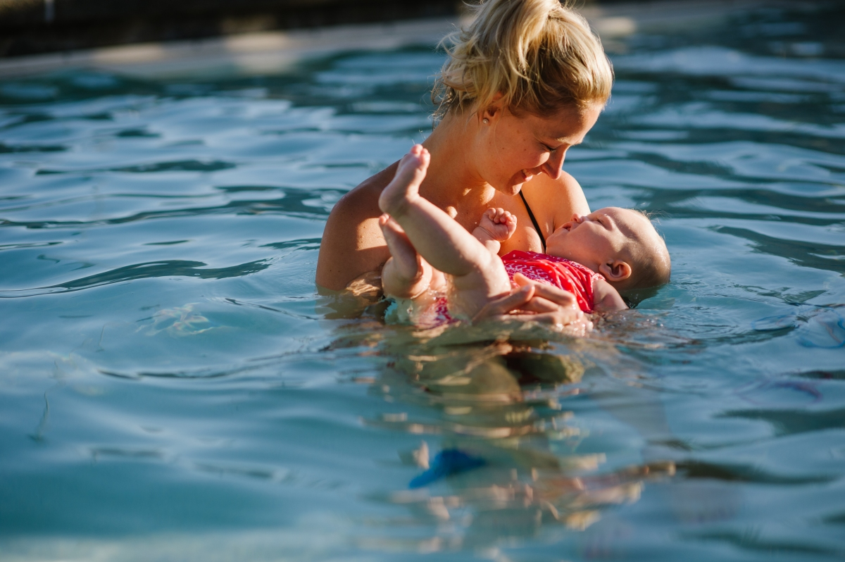How to Teach Baby to Swim: Back Floating